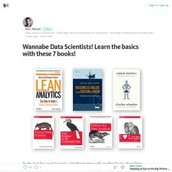 Wannabe Data Scientists! Learn the basics with these 7 books! – Medium