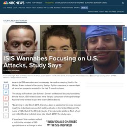 ISIS Wannabes Focusing on U.S. Attacks.