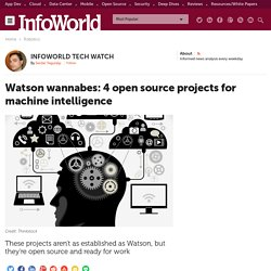 Watson wannabes: 4 open source projects for machine intelligence