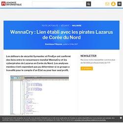 WannaCry : Lien établi avec les pirates Lazarus de Corée du Nord