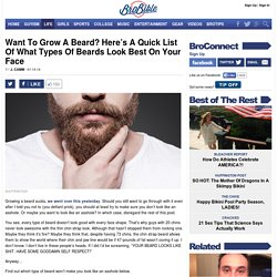 Want To Grow A Beard? Here's A Quick List Of What Types Of Beards Look Best On Your Face