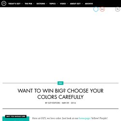 Want to Win Big? Choose Your Colors Carefully