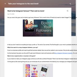 Want to be Instagram famous? Then wait no more!
