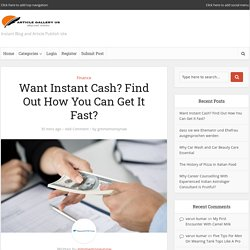 Want Instant Cash? Find Out How You Can Get It Fast?