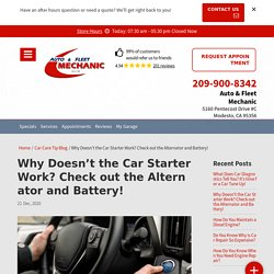 Do you want to know why doesn't the car starter work?