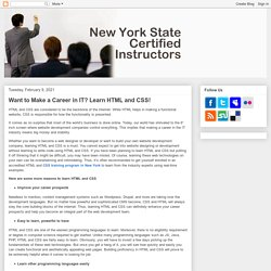 Want to Make a Career in IT? Learn HTML and CSS!