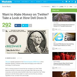 Want to Make Money on Twitter? Take a Look at How Dell Does It