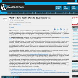 Want to Save Tax? 5 Ways To Save Income Tax