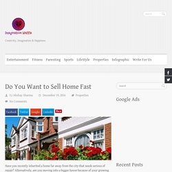 Do You Want to Sell Home Fast - Imagination Waffle