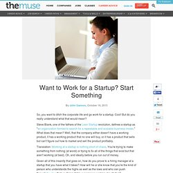 Want to Work for a Startup? Start Something First