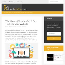 Want More Website Visits? Buy Traffic To Your Website