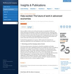 Help wanted: The future of work in advanced economies