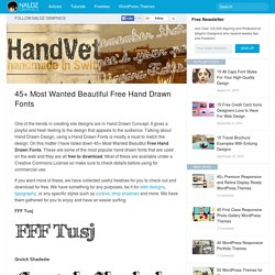 45+ Most Wanted Beautiful Free Hand Drawn Fonts