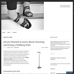 All you Wanted to Learn About Choosing and Using a Walking Stick