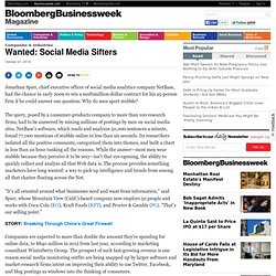 Wanted: Social Media Sifters