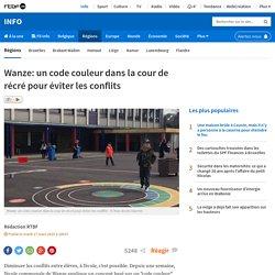 Wanze: un code couleur dans la cour de récré pour éviter les conflits