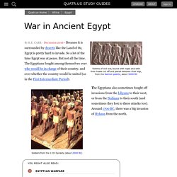 War and Battle in Ancient Egypt