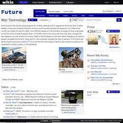 War Technology - Future