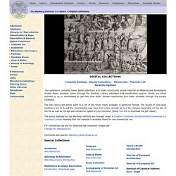 THE WARBURG INSTITUTE: Digital Collections