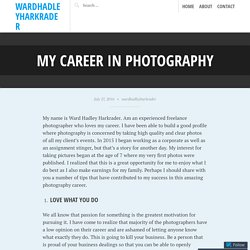 My career in photography – wardhadleyharkrader
