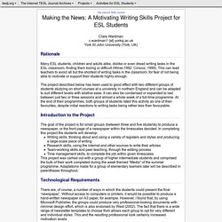 Wardman - Making the News: A Motivating Writing Skills Project for ESL Students