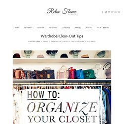 Wardrobe Clear-Out Tips - Wardrobe De-clutter - Top 5 Tips