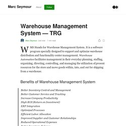 Warehouse Management System — TRG