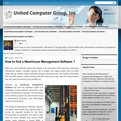 How to find a Warehouse Management Software ?