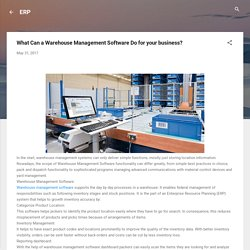 Best Warehouse management software by Erpisto