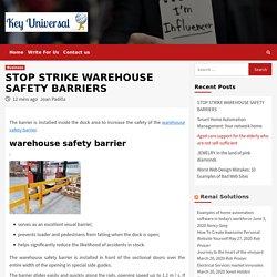 warehouse safety barrier strike in 2020