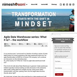 Agile Data Warehouse series: What it is? - the workflow - Nimesh Soni