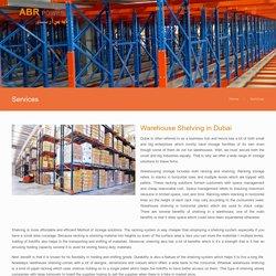 Warehouse Shelving Dubai