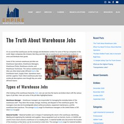 The Truth About Warehouse Jobs - Empire Workforce Solutions