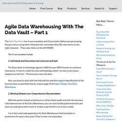 Agile Data Warehousing With The Data Vault – Part 1 – Data Vault and DV 2.0 Education & Training