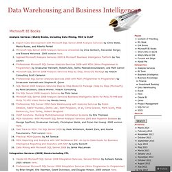 Microsoft BI Books « Data Warehousing and Business Intelligence