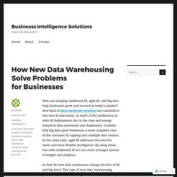 How New Data Warehousing Solve Problems for Businesses – Businesss Intelligence Solutions