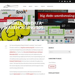 Kimball Big Data Warehousing 101 - Business Intelligence, Analytics & Excel