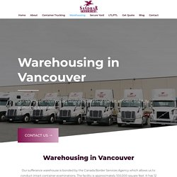Warehousing Services Agency in Vancouver