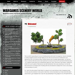 Wargames Scenery World