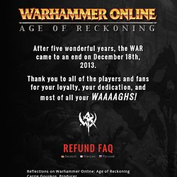 Mythic Entertainment | Warhammer Online – Play the ENDLESS FREE trial!
