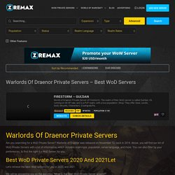 Warlords of Draenor Private Servers - Best WoD Servers - Zremax