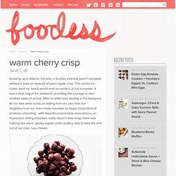 Warm Cherry Crisp