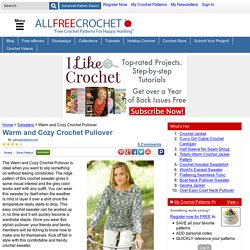 Warm and Cozy Crochet Pullover