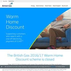 Warm Home Discount British Gas