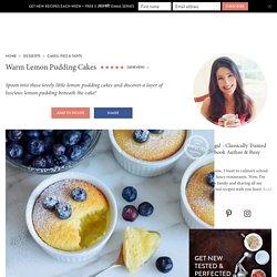 Warm Lemon Pudding Cakes