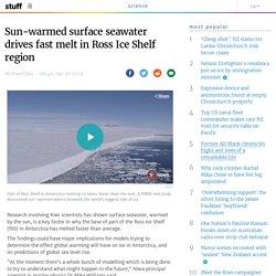 Sun-warmed surface seawater drives fast melt in Ross Ice Shelf region