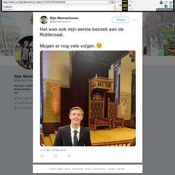 """Stijn Warmenhoven on Twitter: """"Het was ook mijn eerste bezoek aan de Ridderzaal. Mogen er nog vele volgen □… """""""