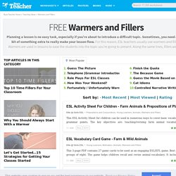 344 Warmers, Ice-Breakers and Fillers For The ESL Classroom