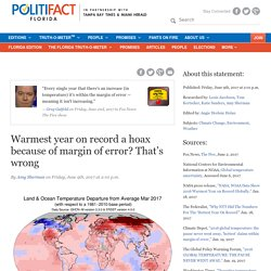 Warmest year on record a hoax because of margin of error? That's wrong