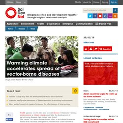 Warming climate accelerates spread of vector-borne diseases